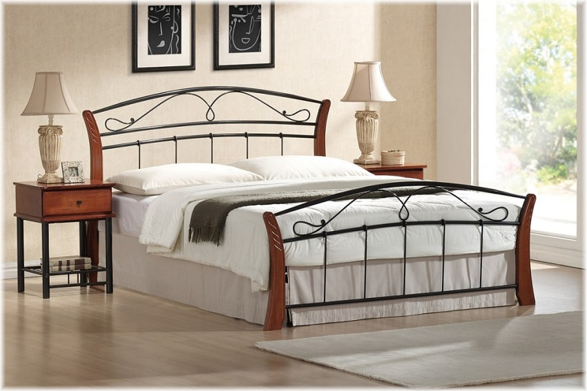metallbett bett atlanta 160 x 200 incl lattenrost. Black Bedroom Furniture Sets. Home Design Ideas
