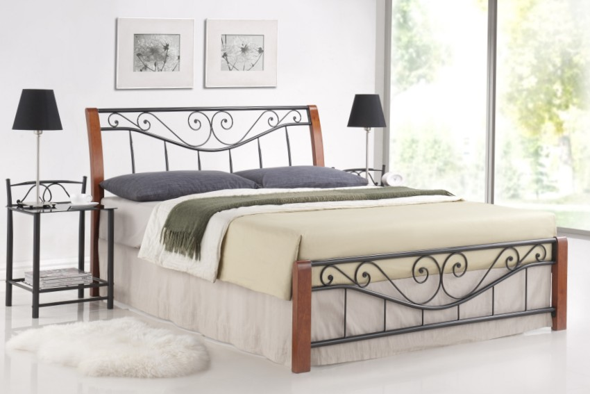 metallbett bett parma 180 x 200 inclusive lattenrost bettgestell holzbett bett ebay. Black Bedroom Furniture Sets. Home Design Ideas