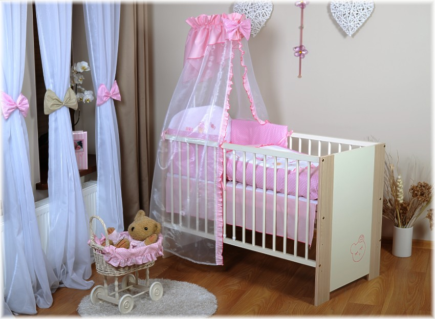 meggi kinderbett bett babybett 120 x 60 baby bett komplett mit bettw sche ebay. Black Bedroom Furniture Sets. Home Design Ideas