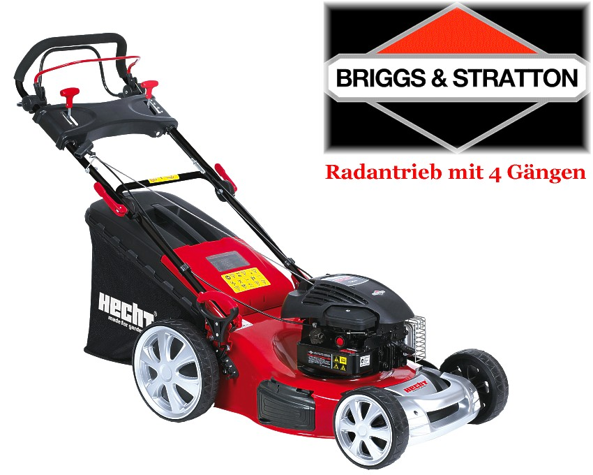 hecht 5494 swb benzin rasenm her motorm her 5 in 1 4 g nge briggs stratton ebay. Black Bedroom Furniture Sets. Home Design Ideas