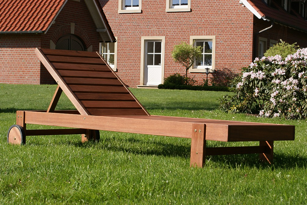 sonnenliege gartenliege holzliege liege ebay. Black Bedroom Furniture Sets. Home Design Ideas